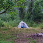 My camp setup. Nice big area I had this night. Night 2 at Courson Island