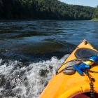 Hitting some more rapids.  It was really hard to take a photo and steer at the same time.  Sorry for the poor photos.