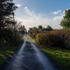 Hiking down the backroads of Ireland.