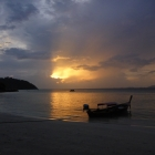 View of the sunset on Sunset Beach, Koh Lipe