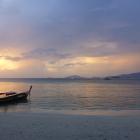 View of the sunset on Sunset Beach, Koh Lipe