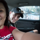 Nens and I in the taxi to Phuket