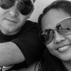 Nens and I on the ferry to Phi Phi Island.