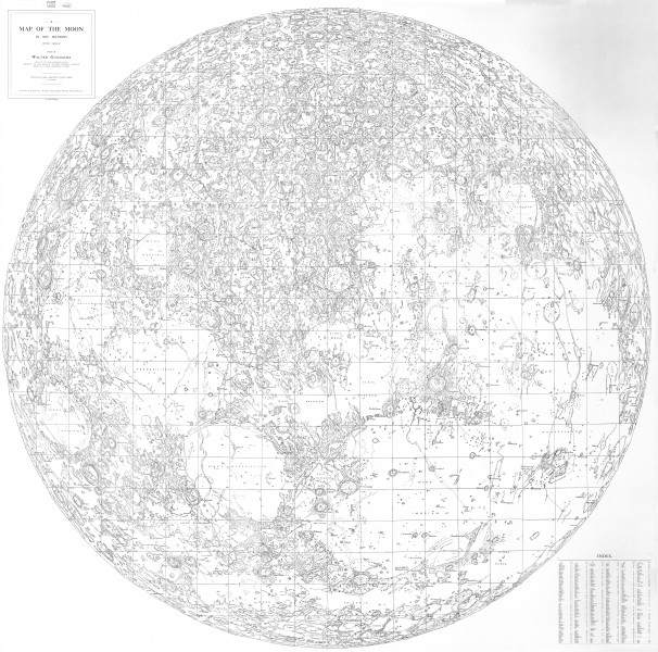 Walter Goodacre's incredibly detailed 1910 map of the Moon.